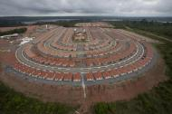 An overview of the houses being built for employees of the Belo Monte hydroelectric dam, planned to be the world's third largest, in Pimental, near Altamira in Para state, November 23, 2013. REUTERS/Paulo Santos