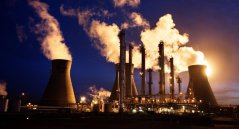 Oil refineries in the UK belching smoke