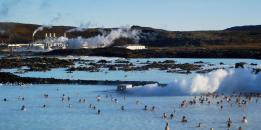 The famous Blue Lagoon in Iceland